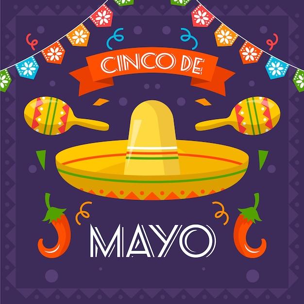Concept De Fond De Cinco De Mayo Vecteur gratuit