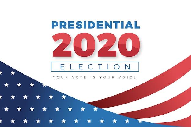 Concept De Fond De L'élection Présidentielle Américaine 2020 Vecteur Premium