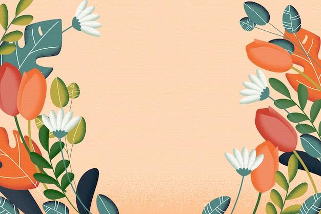 Concept De Fond De Fleurs Vintage 2d Vecteur gratuit