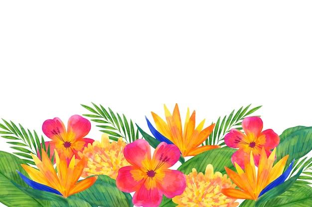 Concept De Fond Floral Aquarelle Vecteur gratuit