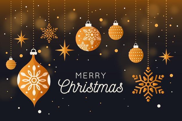 Concept De Fond Joyeux Noël Vecteur gratuit
