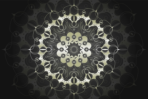 Concept De Fond De Mandala De Luxe Vecteur gratuit