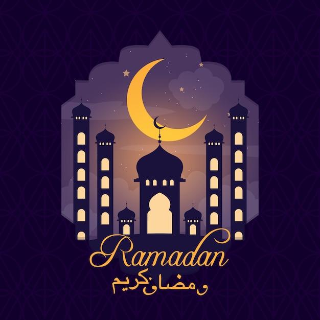 Concept De Fond De Ramadan Vecteur gratuit