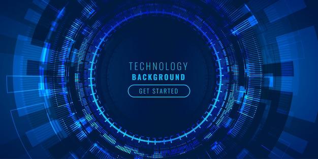 Concept De Fond De Visualisation De Lignes High-tech Futuristes Vecteur gratuit