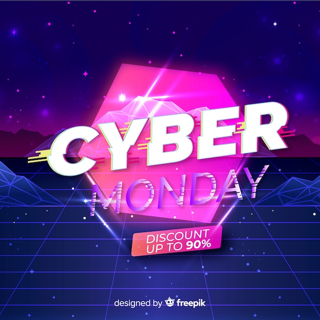 Concept de futur lundi cyber futuriste Vecteur gratuit