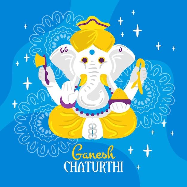 Concept De Ganesh Chaturthi Vecteur gratuit