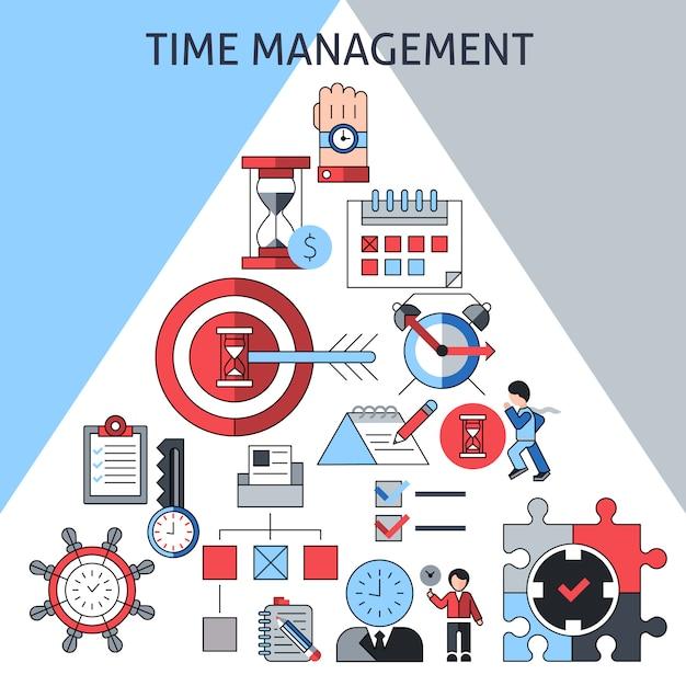 Concept de gestion du temps Vecteur gratuit