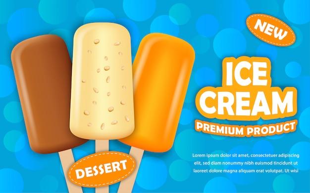 Concept de glace glacée Vecteur Premium