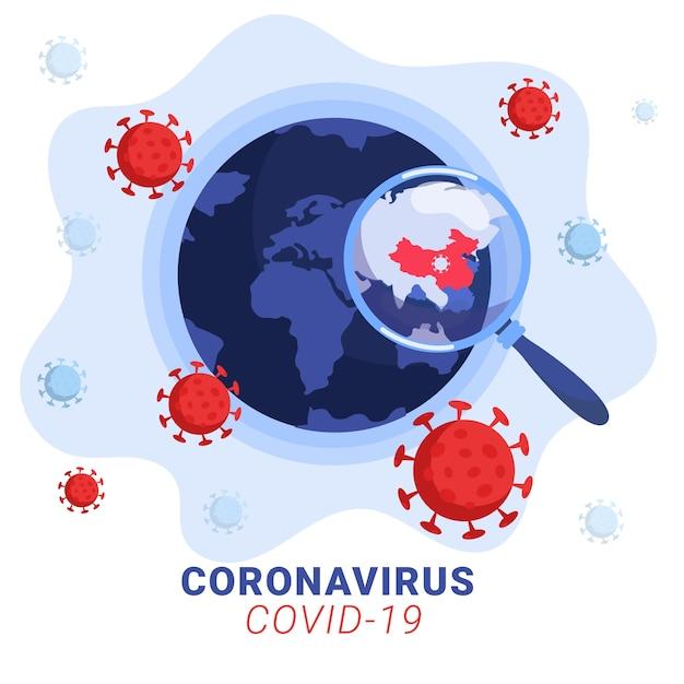 Concept De Globe De Coronavirus Vecteur gratuit