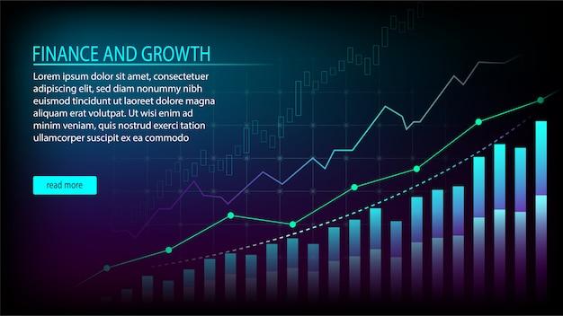 Concept graphique de gestion financière Vecteur Premium