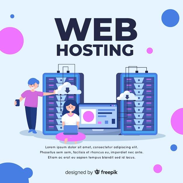 Concept D'hébergement Web Moderne Vecteur gratuit