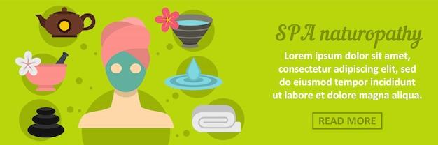 Concept horizontal de bannière naturopathie spa Vecteur Premium
