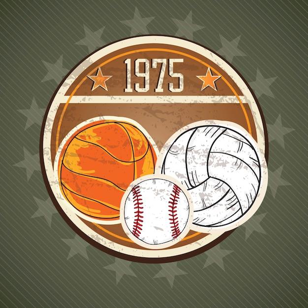 Concept d'icônes de sport (différents éléments et objets) Vecteur Premium