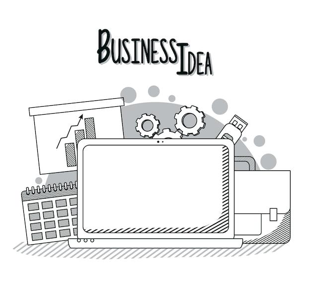 Concept d'idée d'entreprise Vecteur Premium