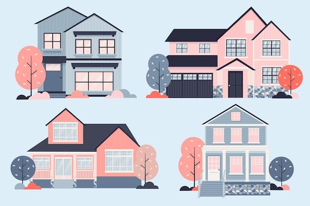 Concept D'illustration De Collection De Maison Vecteur gratuit