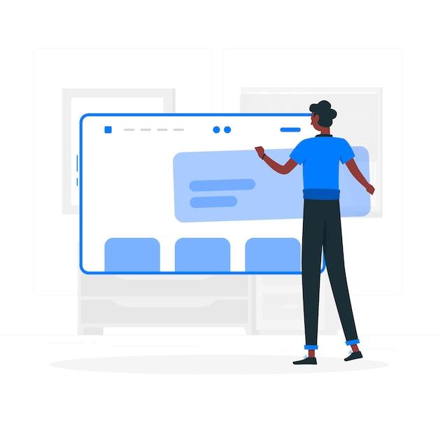 Concept d'illustration de configuration de site web Vecteur gratuit
