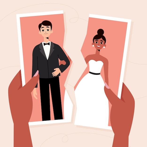 Concept D'illustration De Divorce Vecteur gratuit