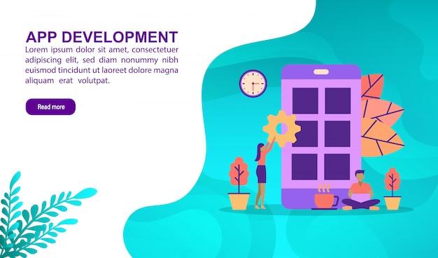 Concept d'illustration du développement d'applications Vecteur Premium