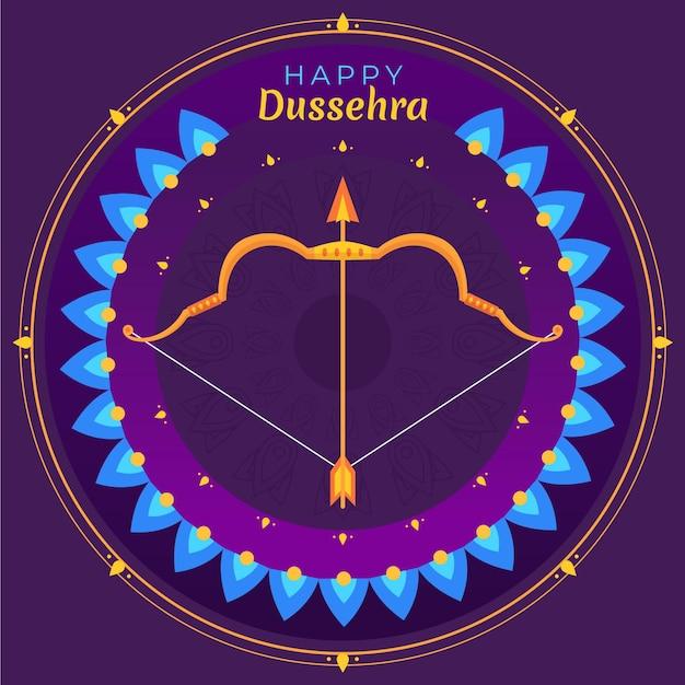 Concept D'illustration Du Festival De Dussehra Vecteur gratuit