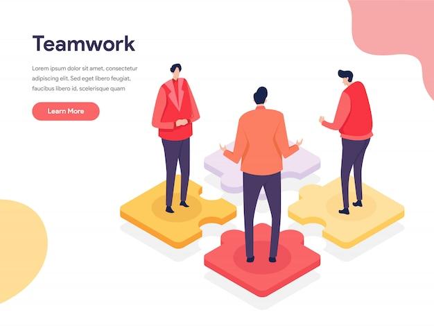 Concept D'illustration D'environnement Collaboratif Vecteur Premium