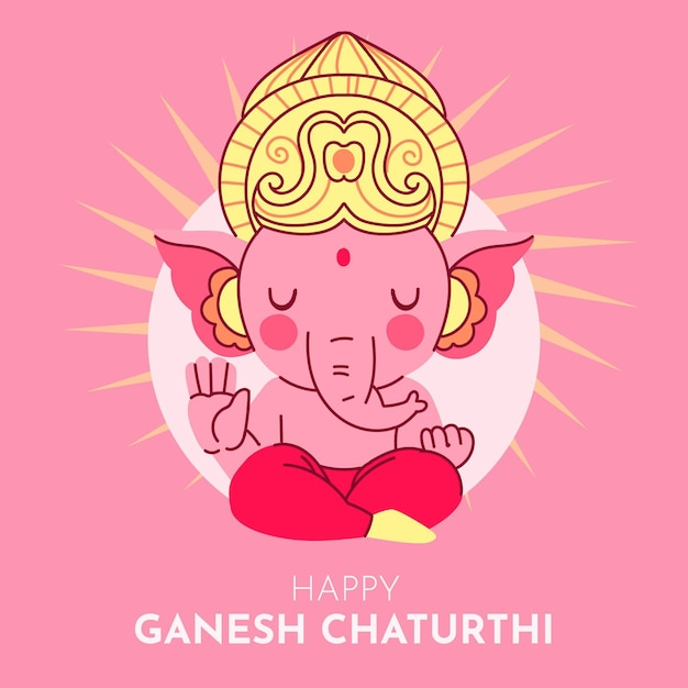 Concept D'illustration Ganesh Chaturthi Vecteur gratuit