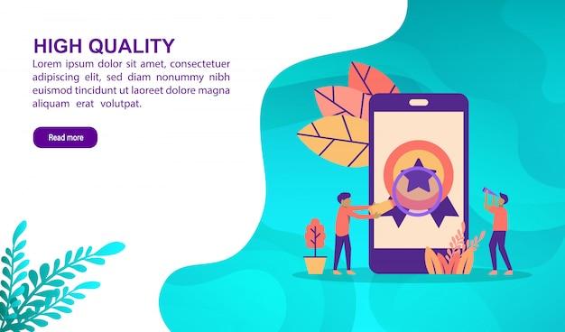 Concept d'illustration de haute qualité avec personnage. modèle de page de destination Vecteur Premium