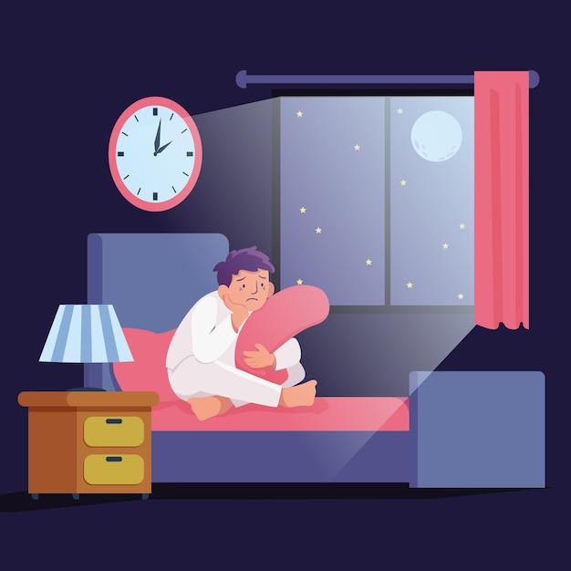 Concept D'illustration De L'insomnie Vecteur gratuit