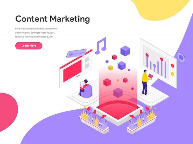 Concept d'illustration de marketing de contenu Vecteur Premium