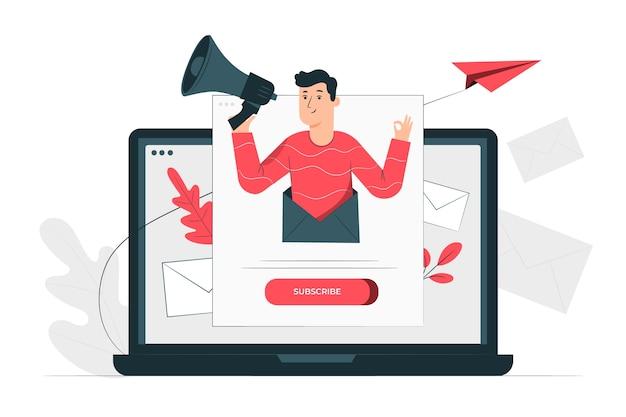 Concept D'illustration Newsletter Vecteur gratuit