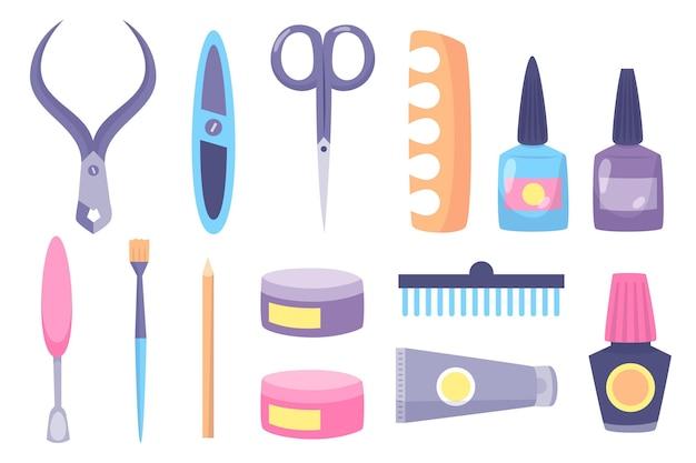 Concept D'illustration D'outils De Manucure Vecteur gratuit