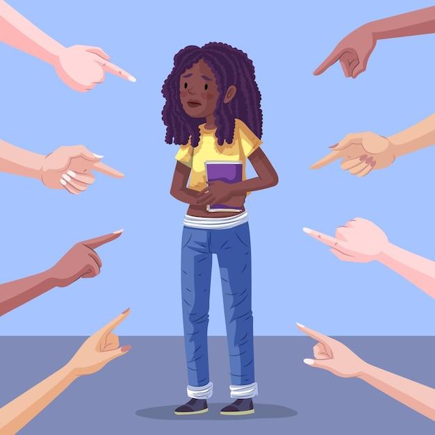 Concept D'illustration De Racisme Vecteur gratuit