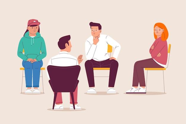 Concept D'illustration De Thérapie De Groupe Vecteur gratuit