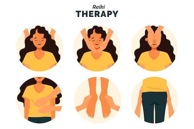 Concept D'illustration De Thérapie Reiki Vecteur gratuit