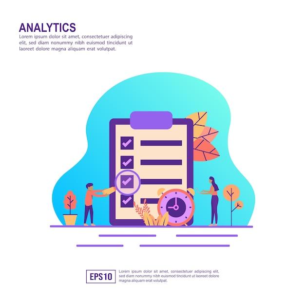 Concept D'illustration Vectorielle D'analyse Vecteur Premium