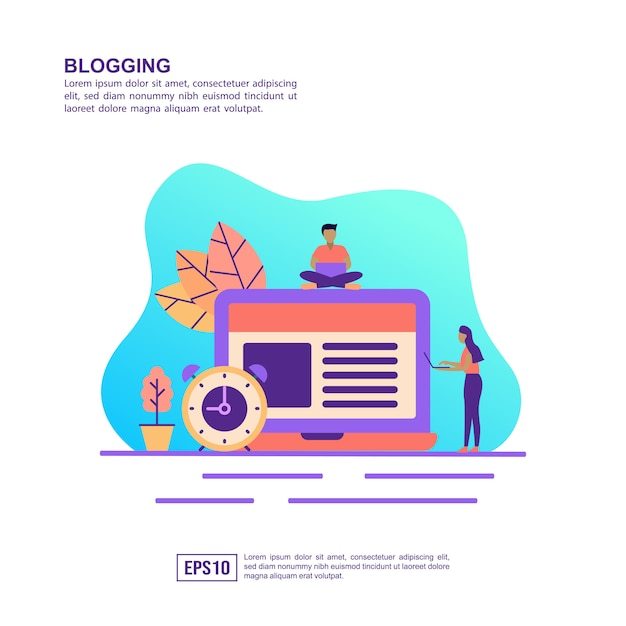 Concept D'illustration Vectorielle De Blogs Vecteur Premium