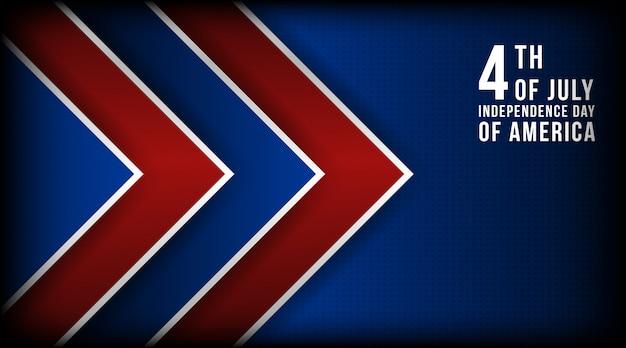 Concept d'illustration vectorielle du 4 juillet fête de l'indépendance des amériques Vecteur Premium