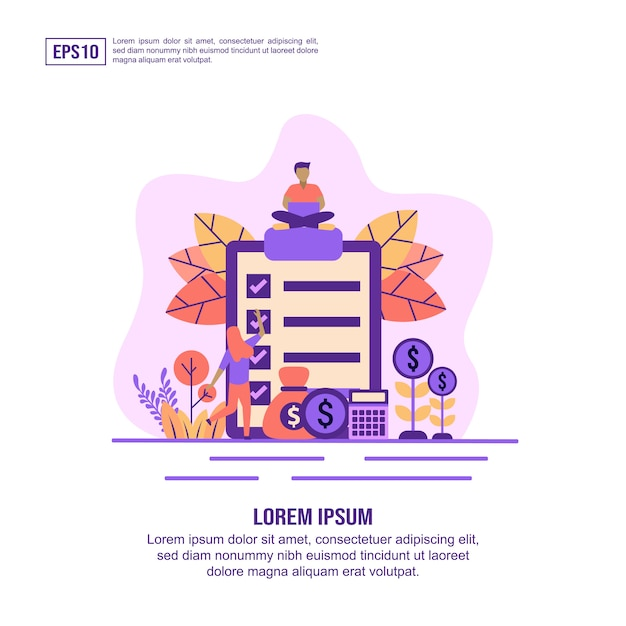 Concept d'illustration vectorielle de paiement du salaire Vecteur Premium