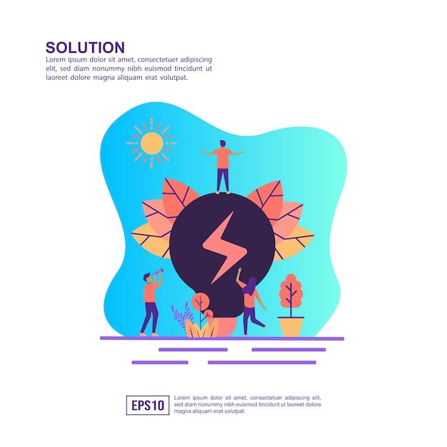 Concept d'illustration vectorielle de solution Vecteur Premium