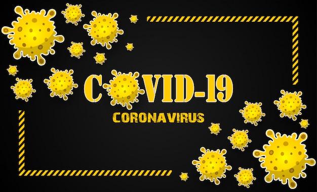 Concept Illustrations Maladie Du Coronavirus Covid-19 Vecteur Premium