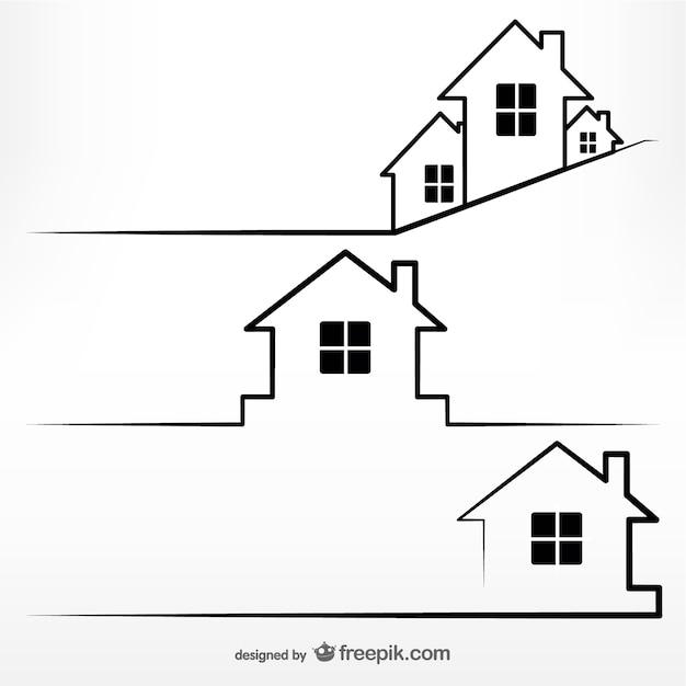 Concept Immobilier Modèle Vecteur Premium