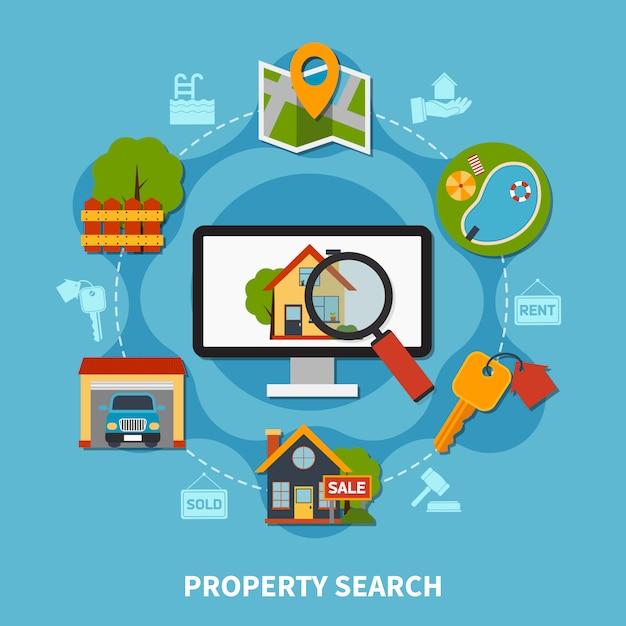 Concept Immobilier Vecteur gratuit