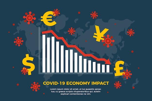 Concept D'impact économique Du Coronavirus Vecteur gratuit