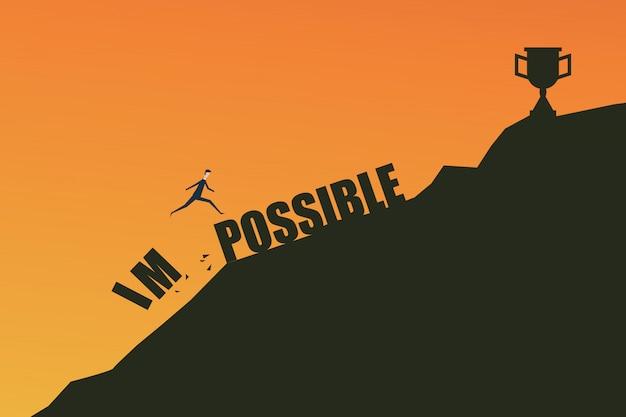 Concept impossible est possible Vecteur Premium