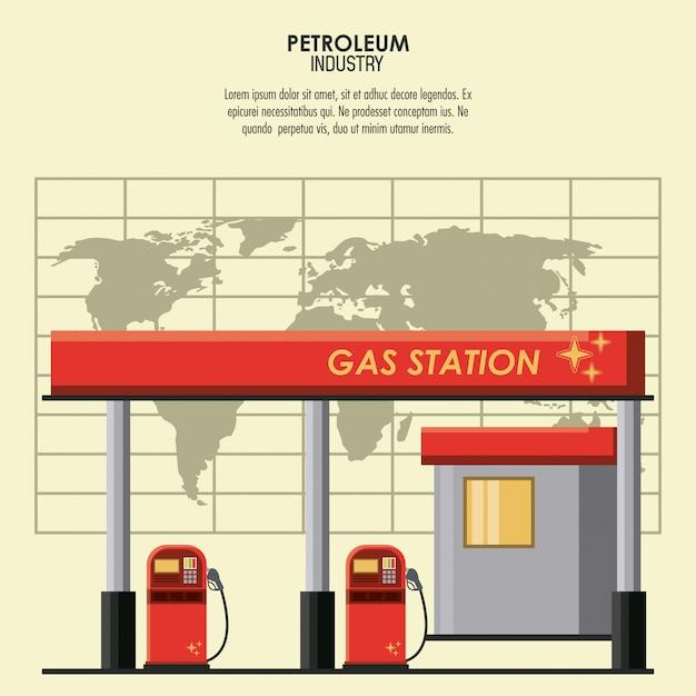 Concept De L'industrie Pétrolière Vecteur Premium