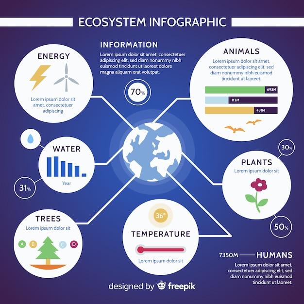 Concept d'infographie de l'écosystème moderne Vecteur gratuit