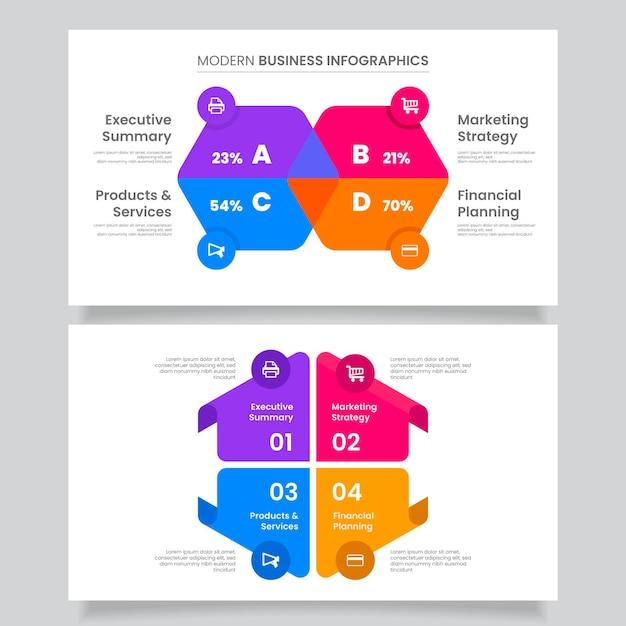 Concept D'infographie Entreprise Plate Vecteur gratuit