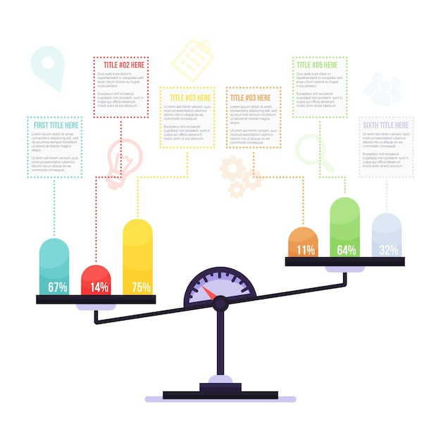 Concept D'infographie D'équilibre Vecteur gratuit