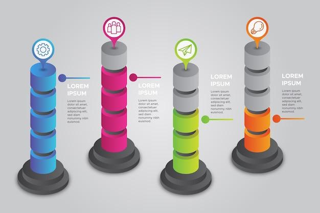 Concept D'infographie Isométrique Vecteur gratuit