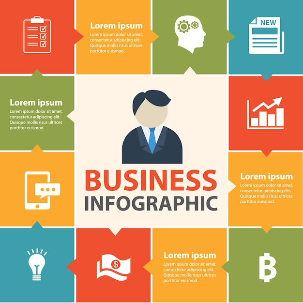 Concept d'infographie métier. Vecteur Premium