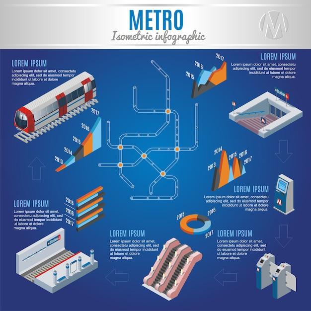 Concept D'infographie De Métro Isométrique Vecteur gratuit